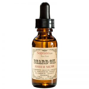 AMBER MUSK beard oil vegan natural organic sopranolabs