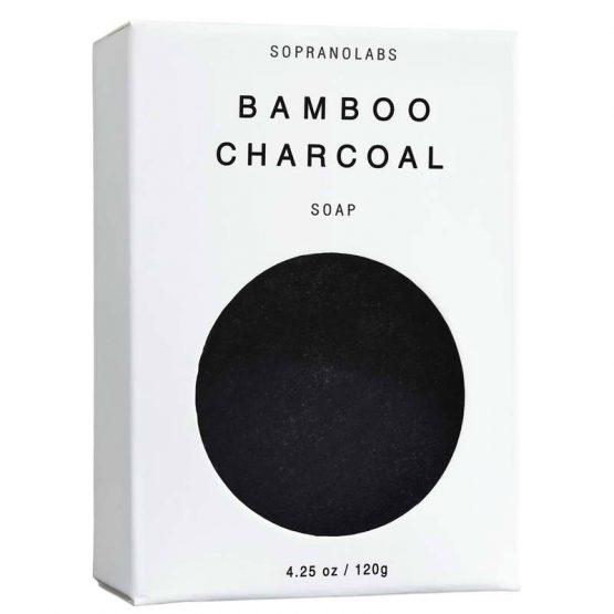 Bamboo Charcoal soap vegan natural organic sopranolabs