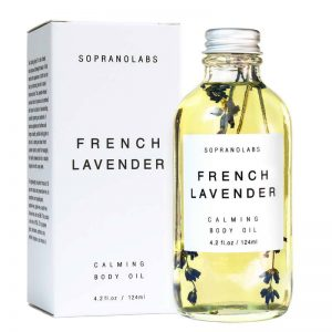French Lavender Calming Body Oil vegan natural organic sopranolabs 02