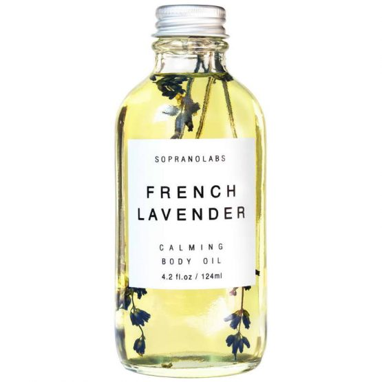 French Lavender Calming Body Oil vegan natural organic sopranolabs
