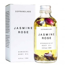 Jasmine Rose Sensual Aphrodisiac Body Oil vegan natural organic sopranolabs 02