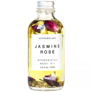 Jasmine Rose Sensual Aphrodisiac Body Oil vegan natural organic sopranolabs
