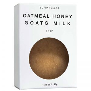 Oatmeal Honey Goats Mil soap natural organic sopranolabs