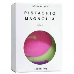 Pistachio Magnolia soap vegan natural organic sopranolabs