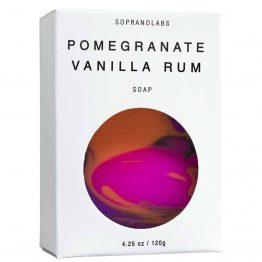 Pomegranate Vanilla soap vegan natural organic sopranolabs