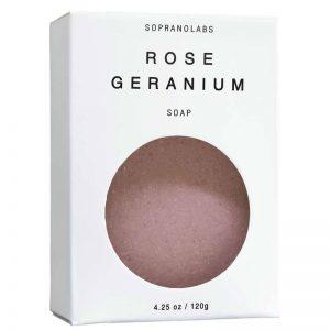 Rose Geranium soap vegan natural organic sopranolabs