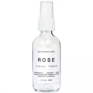 Rose toner vegan natural organic sopranolabs