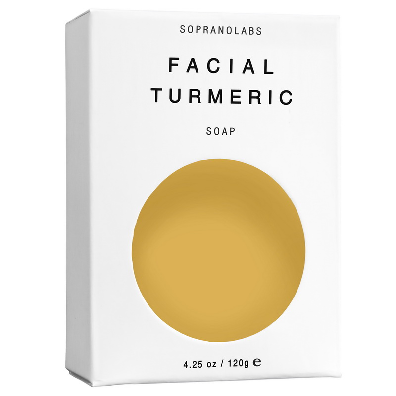 Face turmeric vegan organic Soap by Sopranolabs