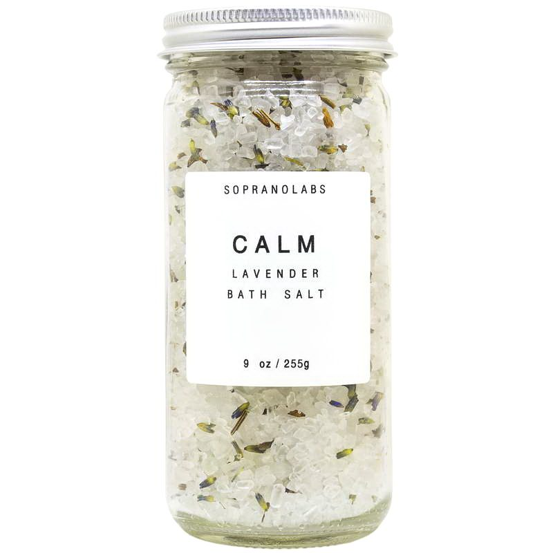 Calm Bath Salt vegan natural organic Sopranolabs