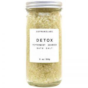 Detox Bath Salt vegan natural organic Sopranolabs