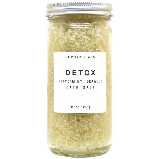 Detox Bath Salt vegan natural organic Sopranolabs