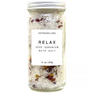 Relax Bath Salt vegan natural organic Sopranolabs