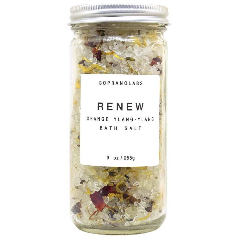 Renew Bath Salt vegan natural organic Sopranolabs