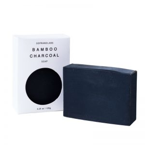 Bamboo Charcoal soap vegan natural organic sopranolabs