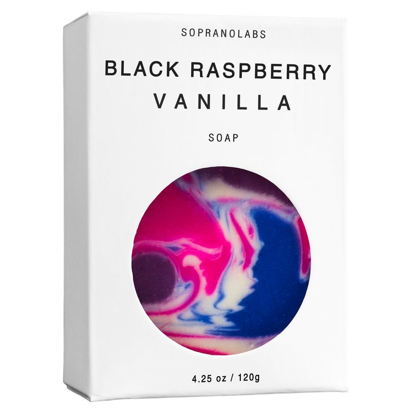 Black Raspberry Vanilla soap vegan natural organic sopranolabs