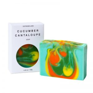 Cucumber Cantaloupe soap vegan natural organic sopranolabs