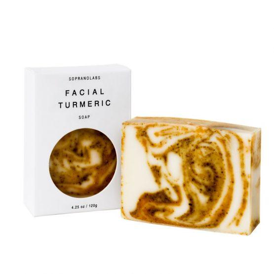 Facial-Turmeric-soap-vegan-natural-organic-sopranolabs