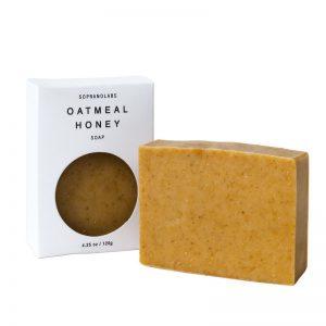 Oatmeal Honey soap vegan natural organic sopranolabs