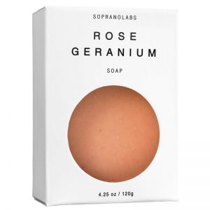 Rose Geranium soap vegan natural organic sopranolabs