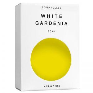 white gardenia vegan natural soap by sopranolabs