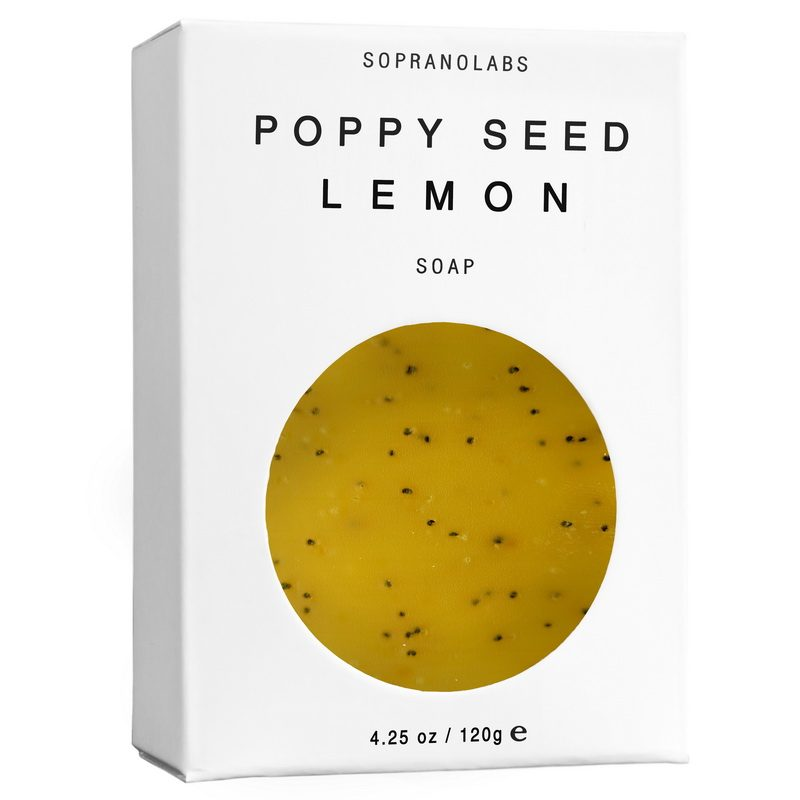poppy seed lemon vegan soap by sopranolabs