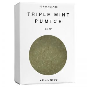 triple mint pumice vegan organic all natural soap by sopranolabs