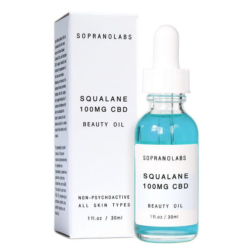 olive squalane cbd vegan beauty oil by sopranolabs